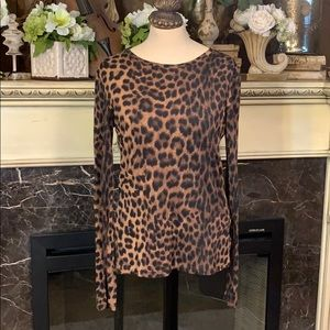 Michael Kors leopard print long sleeve tee shirt